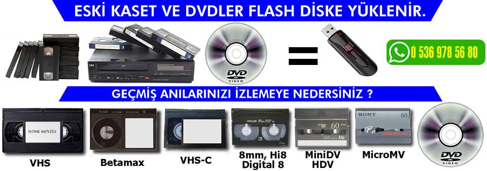eski kasetler dvd cd usb bilgisayara aktarılır